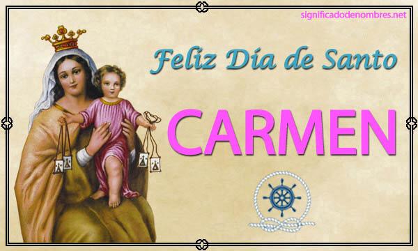Imagen para imprimir el nombre de Carmen
