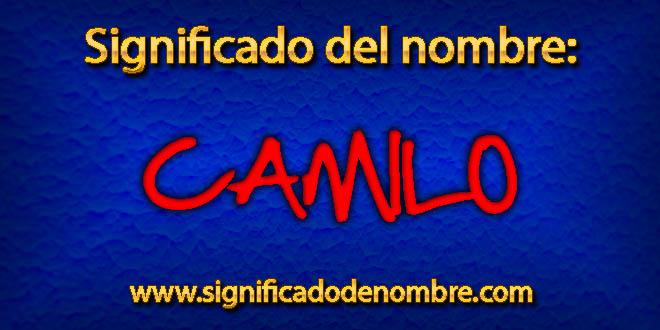 Significado de Camilo