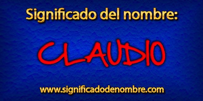 Significado de Claudio