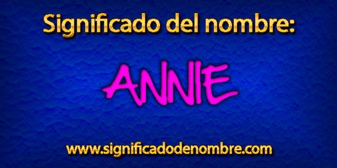 Significado de Annie