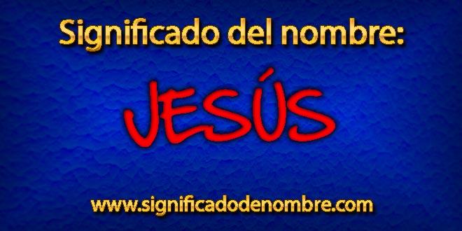 Significado de Jesús