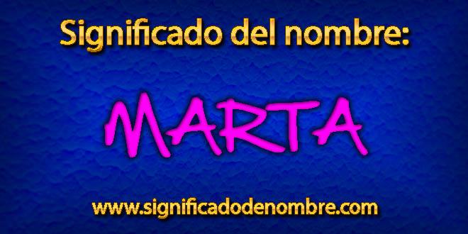 Significado de Marta