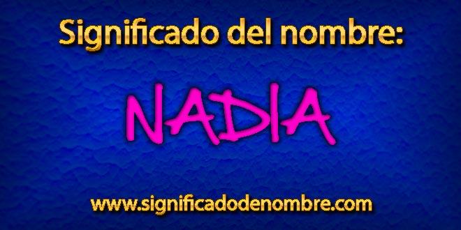 Significado de Nadia