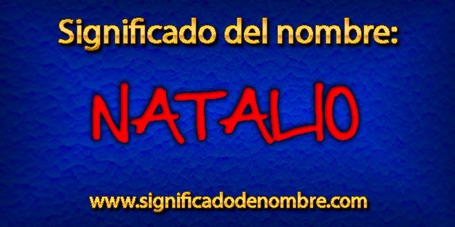 Significado de Natalio