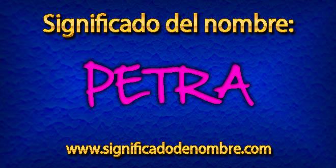 Significado de Petra