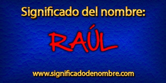 Significado de Raúl