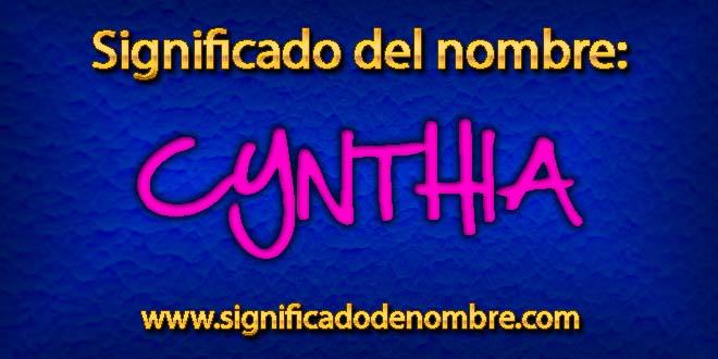 Significado de Cynthia