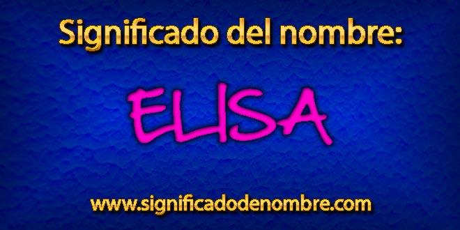Significado de Elisa