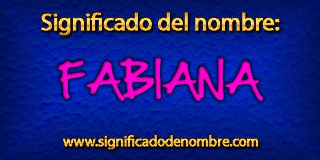 Significado de Fabiana