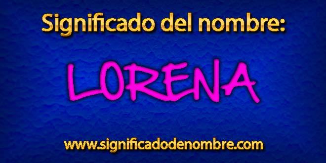 Significado de Lorena