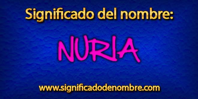 Significado de Nuria