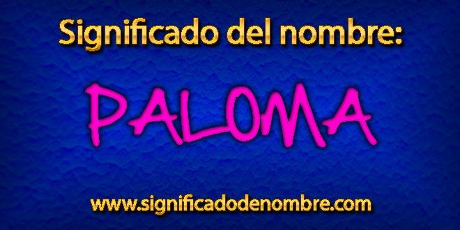 Significado de Paloma