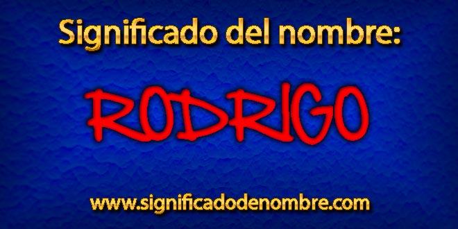Significado de Rodrigo