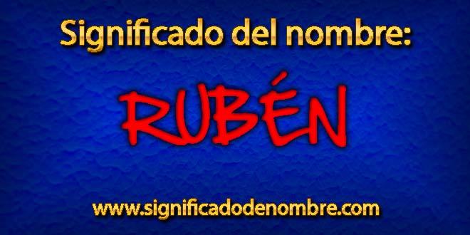 Significado de Rubén