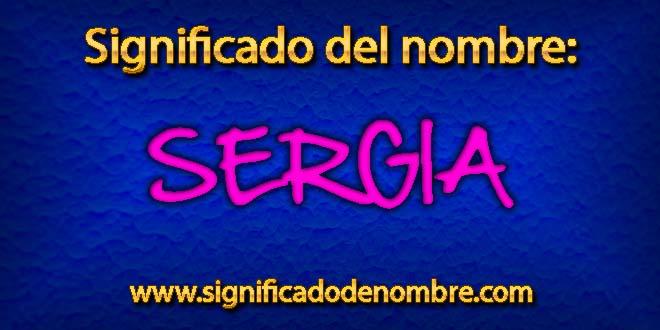 Significado de Sergia