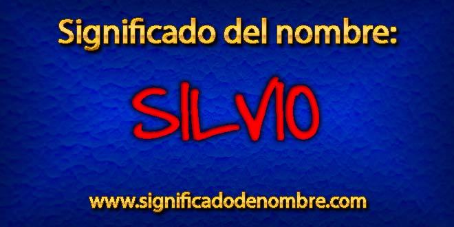 Significado de Silvio
