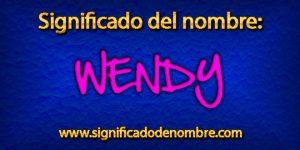 Significado de Wendy