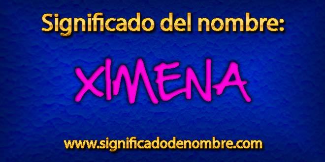 Significado de Ximena