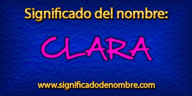 Significado de Clara