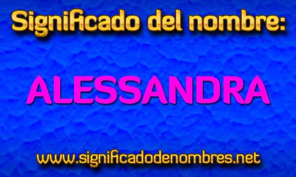 Significado de Alessandra