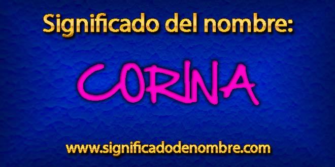 Significado de Corina