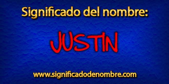 Significado de Justin