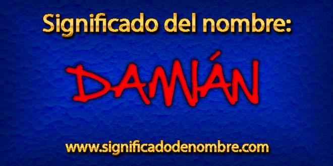 Significado de Damián