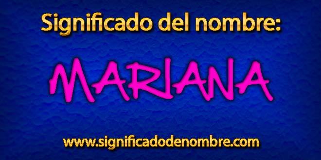 Significado de Mariana