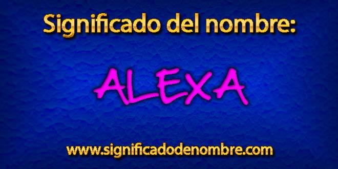 Significado de Alexa