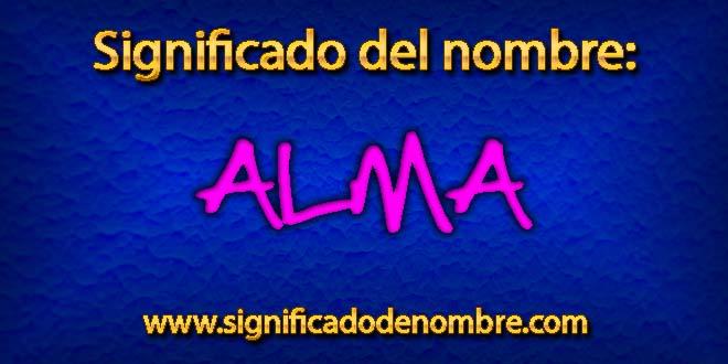 Significado de Alma