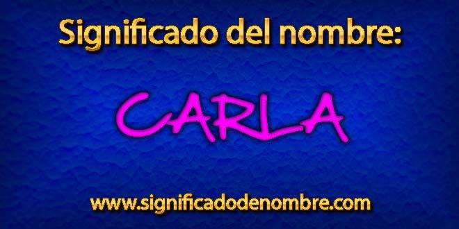 Significado de Carla