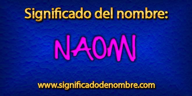 Significado de Naomi
