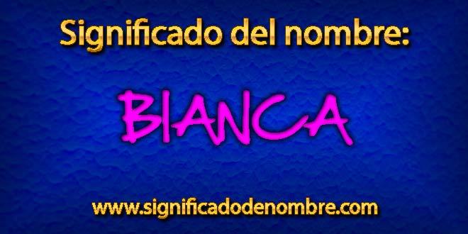 Significado de Bianca