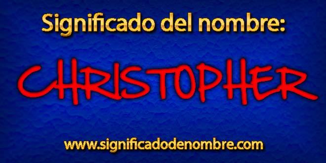 Significado de Christopher