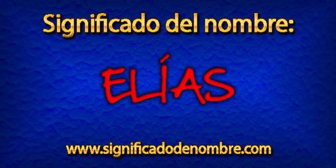 Significado de Elías