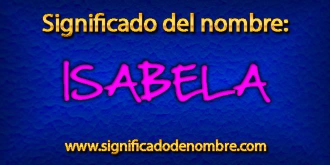 Significado de Isabela