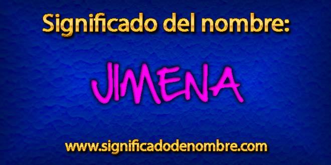 Significado de Jimena