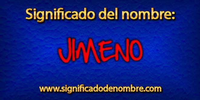 Significado de Jimeno