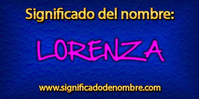 Significado de Lorenza