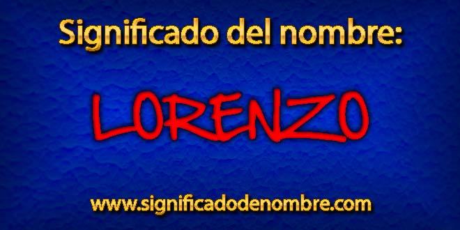 Significado de Lorenzo