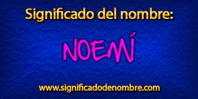 Significado de Noemí