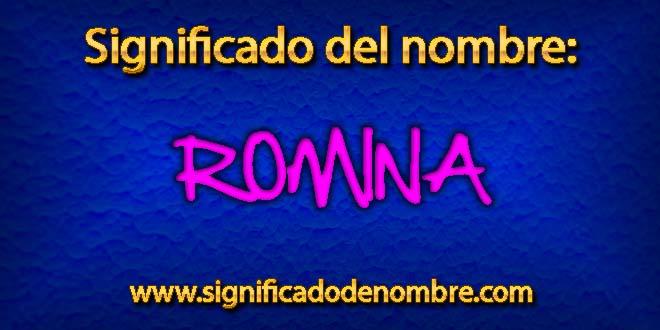 Significado de Romina