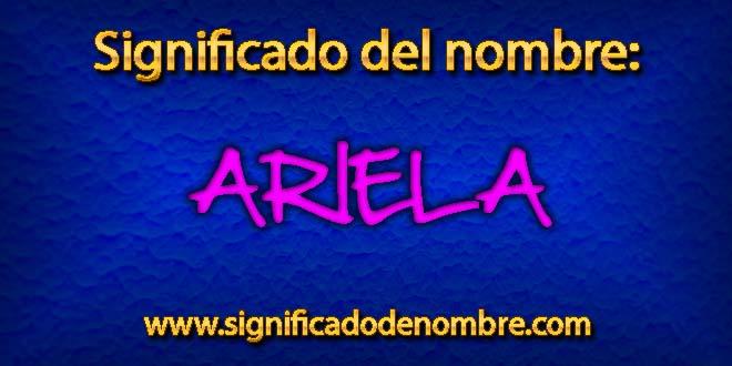 Significado de Ariela