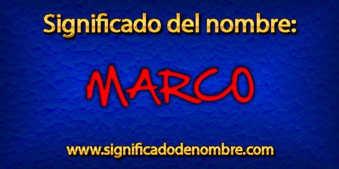 Significado de Marco