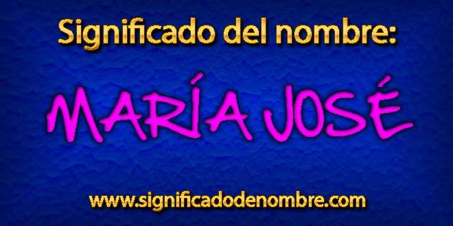 Significado de María José