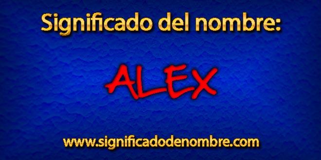 Significado de Alex