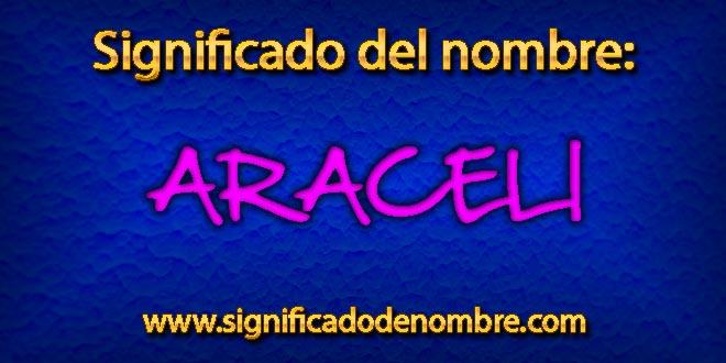 Significado de Araceli