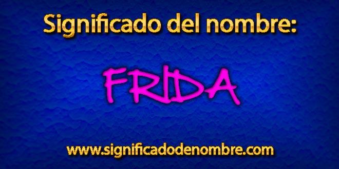 Significado de Frida