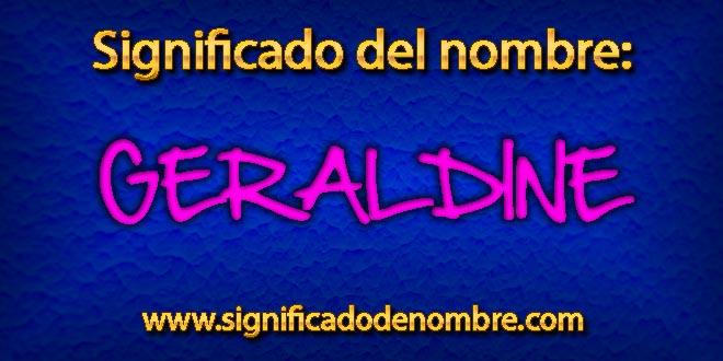 Significado de Geraldine