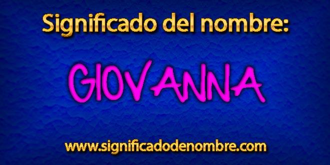 Significado de Giovanna